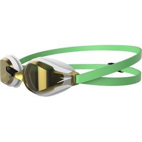 speedo Fastskin Speedsocket 2 Mirror Svømmebriller, green glow/white/gold